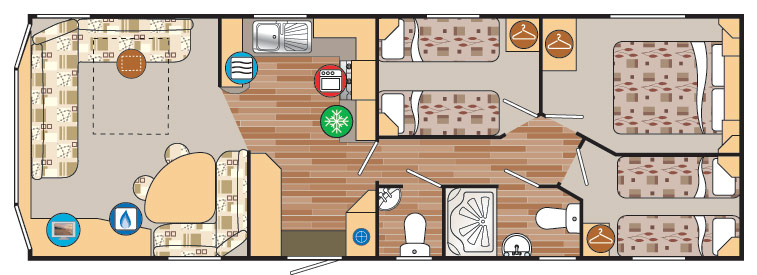 Static caravan holiday homes may differ in terms of layout and design